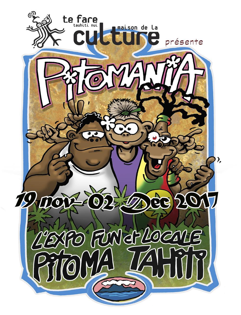 Pitomania l'expo qui présente Pito Ma, sa bande, son histoire et son milieu