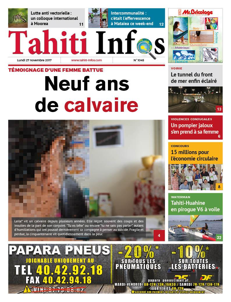 TAHITI INFOS N°1045 du 27 novembre 2017