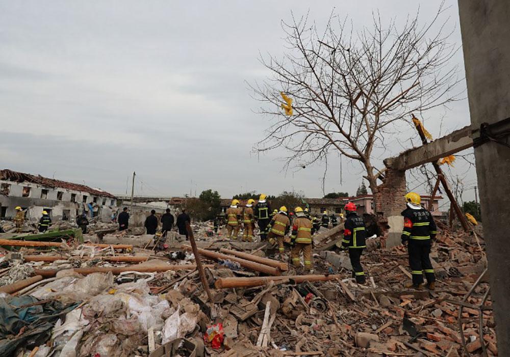 Explosion en Chine: un accident dû à des explosifs clandestins