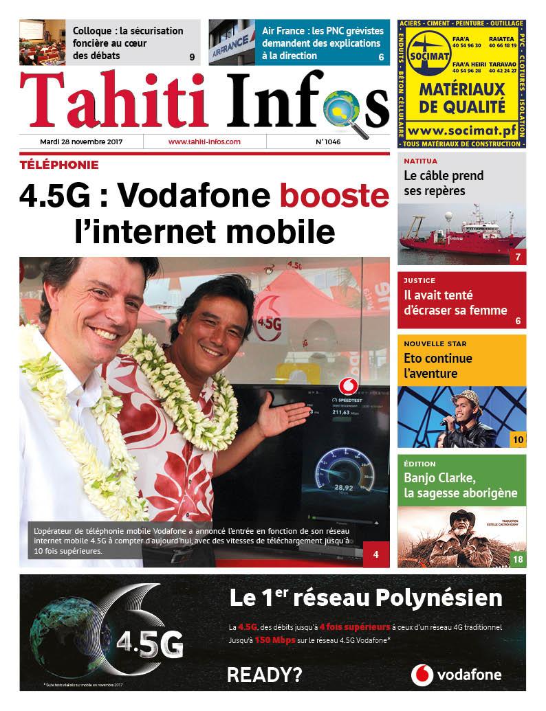 TAHITI INFOS N°1046 du 28 novembre 2017