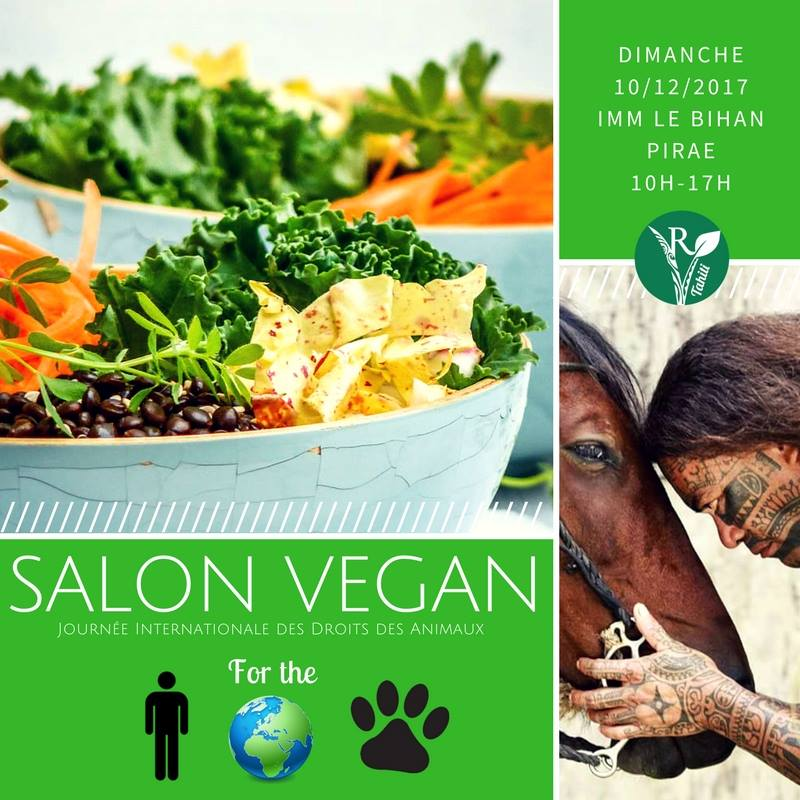 Un Salon vegan à Tahiti le 10 décembre