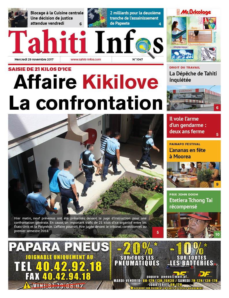 TAHITI INFOS N°1047 du 29 novembre 2017