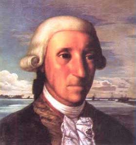 Domingo de Boenechea, premier Espagnol à avoir foulé le sol tahitien. Il y mourra subitement lors de sa deuxième expédition, le 20 janvier 1775. C'est lui qui emmena quatre Tahitiens en Amérique du Sud en décembre 1772.