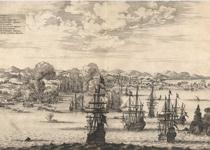 Le port de Callao, proche de Lima, à l'époque des explorations espagnols dans nos eaux.