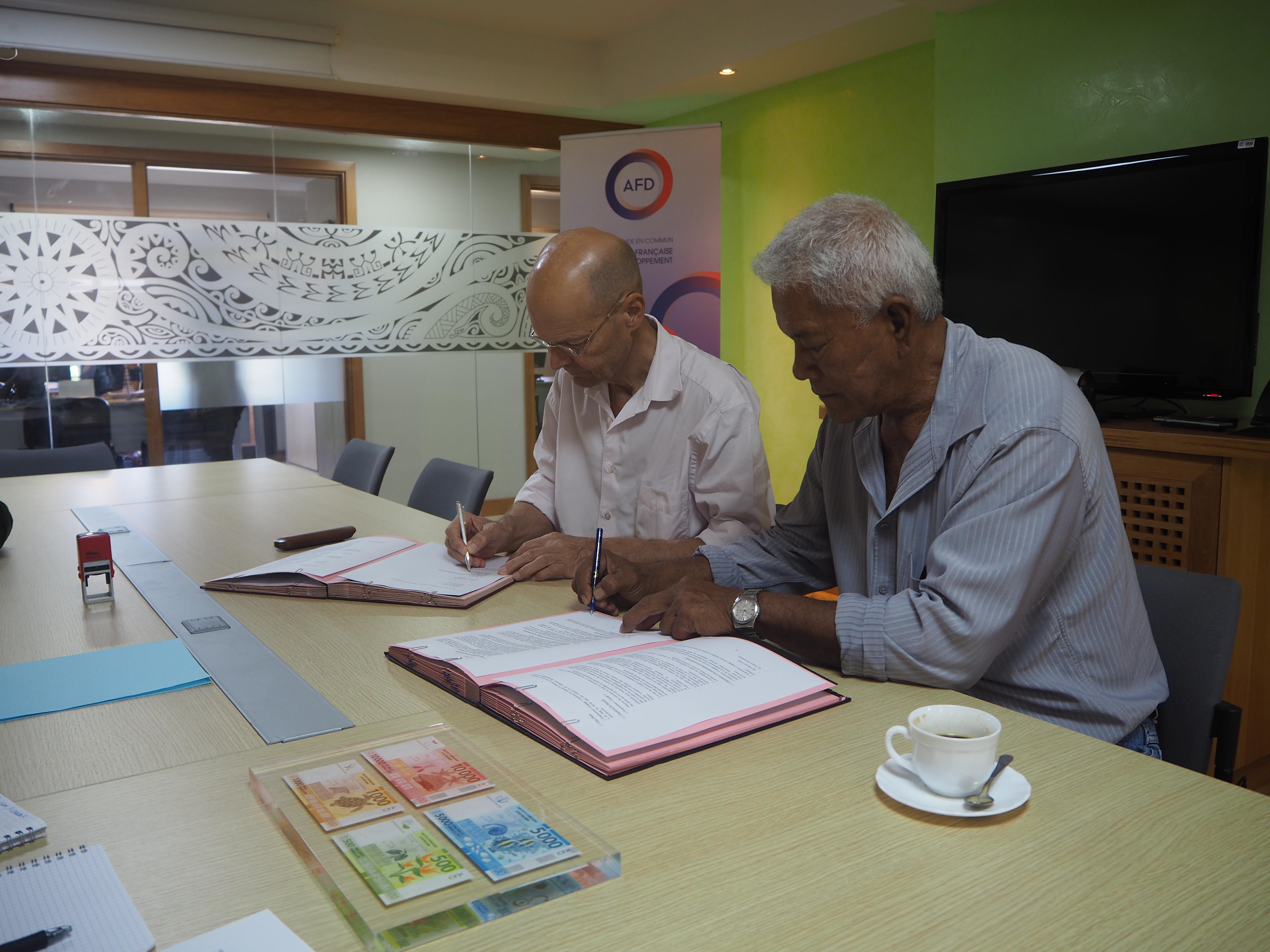 La signature a eu lieu mercredi après-midi, dans les locaux de l'AFD.