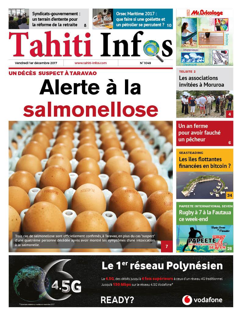 TAHITI INFOS N°1049 du 1er décembre 2017