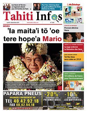 TAHITI INFOS N°1050 du 4 décembre 2017