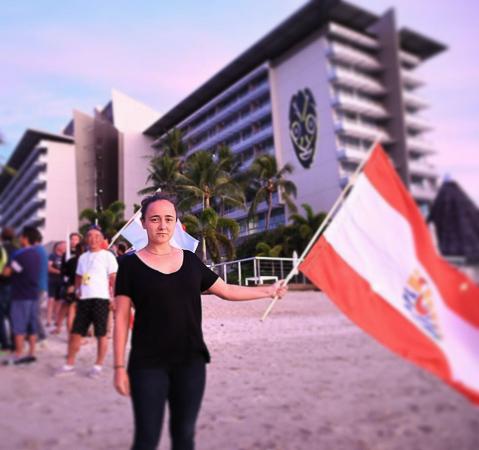 Mathilde Zampieri a porté haut les couleurs de la Polynésie