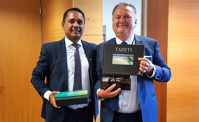 Tearii Alpha a rencontré Hon Shane Jones, Ministre des forêts, des infrastructures et du développement régional.