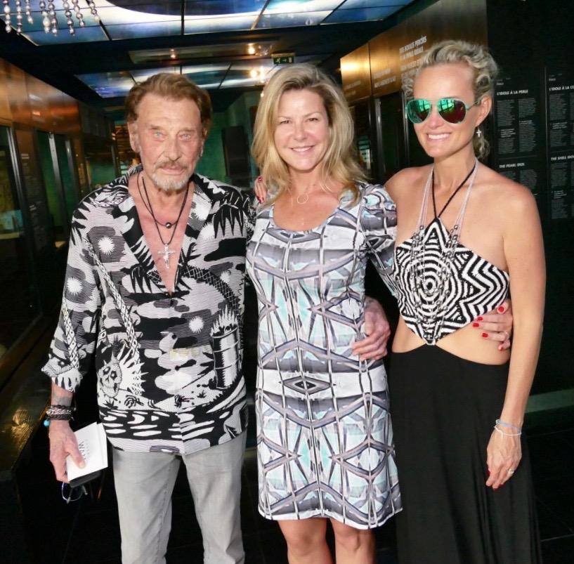 Johnny et Laetitia en compagnie de Sonia Aline, lors de leur arrivée au fenua en 2016