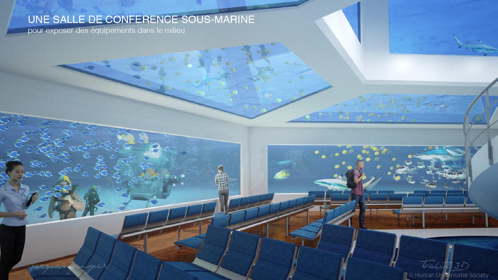 Un complexe en partie sous-marin pour le Village Tahitien ?