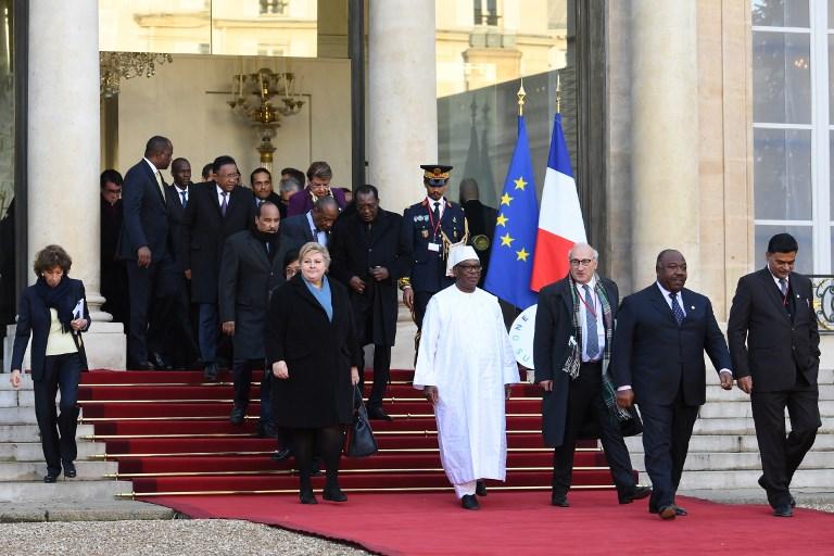 Sommet climat: les dirigeants réunis à l'Elysée