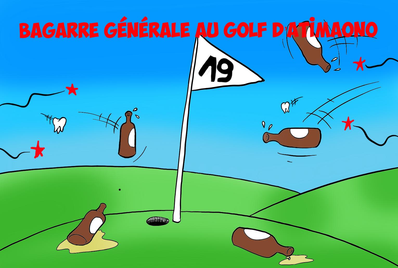 """"""" Bagarre au Golf d'Atimaono """" par Munoz"""