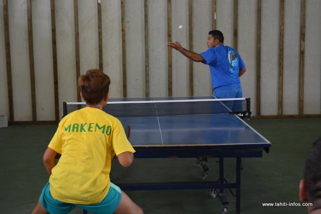 En tennis de table, Rangiroa rafle également les médailles d'or.