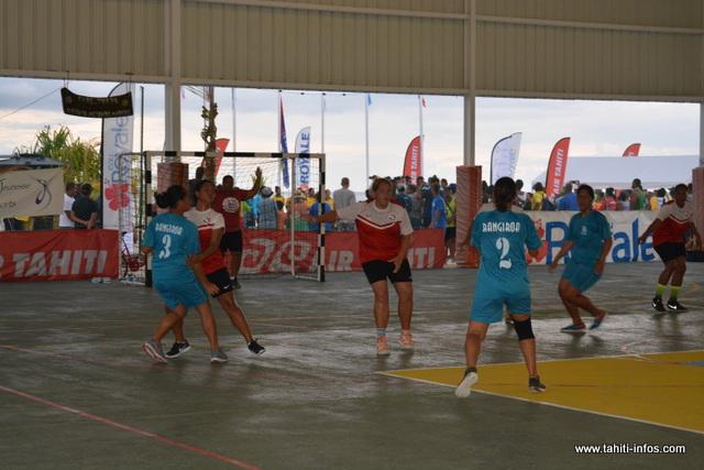 En hand-ball, c'est la délégation de Hao qui repart avec le plus de médailles d'or.