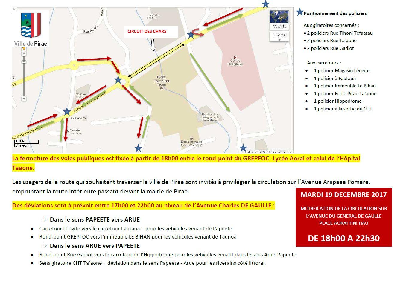 Le plan de la circulation.