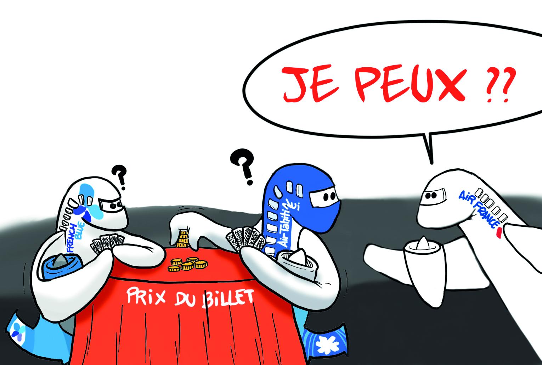 """"""" Air France baisse ses tarifs """" par Munoz"""