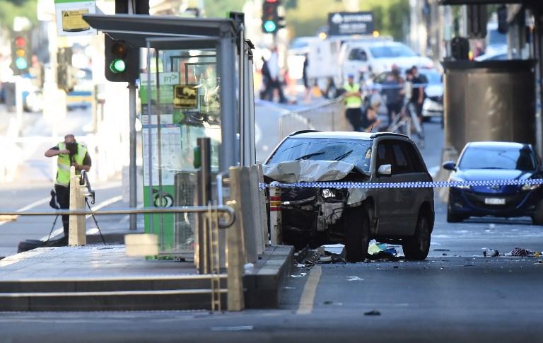 Voiture bélier à Melbourne: 19 blessés, pas de lien à ce stade avec le terrorisme