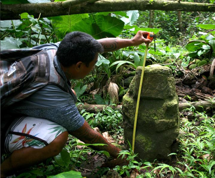 Le petit tiki de Te Fiifii mesure exactement 73 cm.