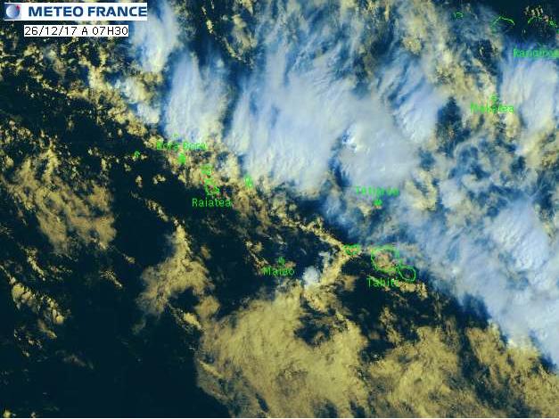Fortes pluies : La Société et l'Ouest des Tuamotu en vigilance jaune