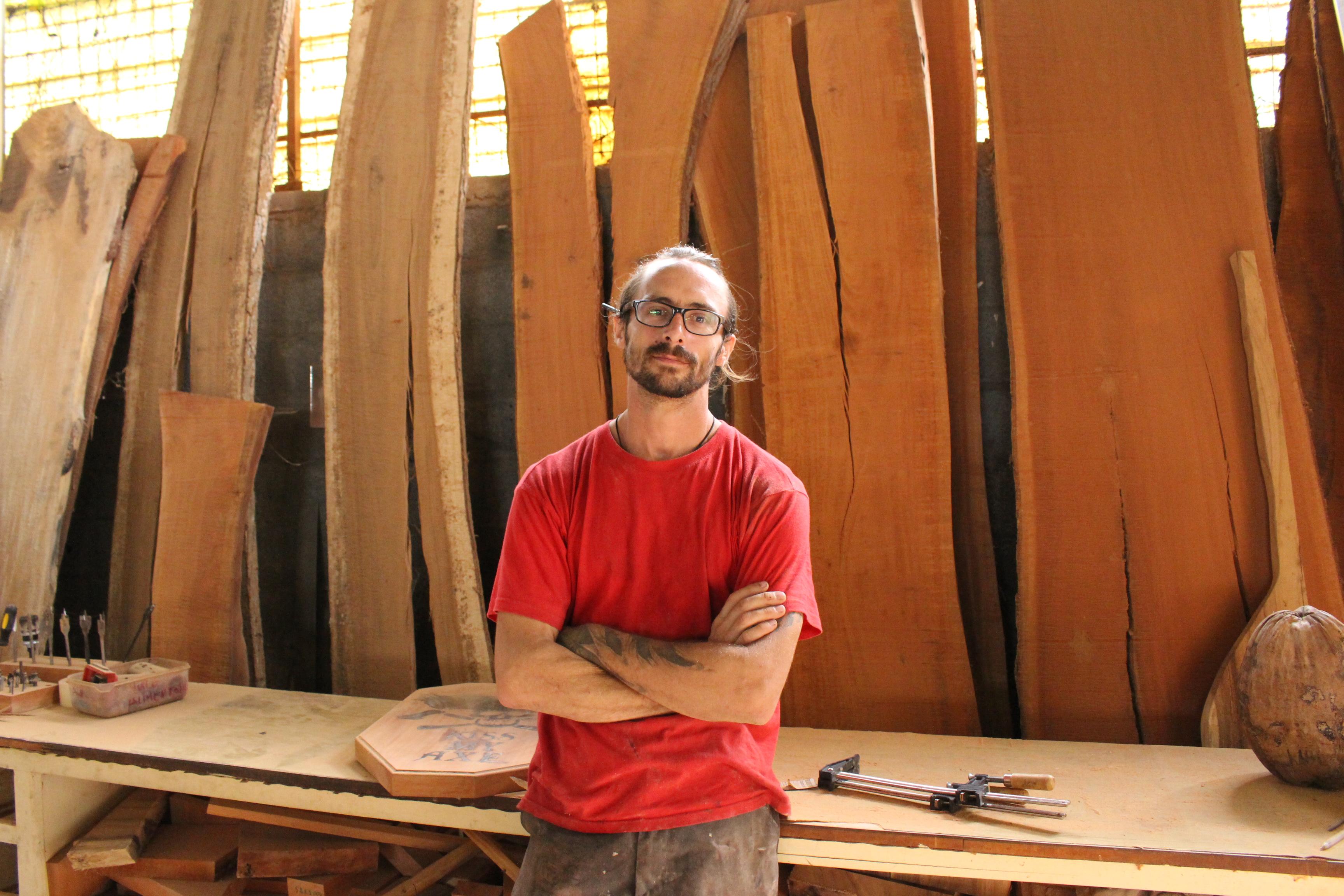 Matthieu Gauthier, fondateur de Fenua Wood.