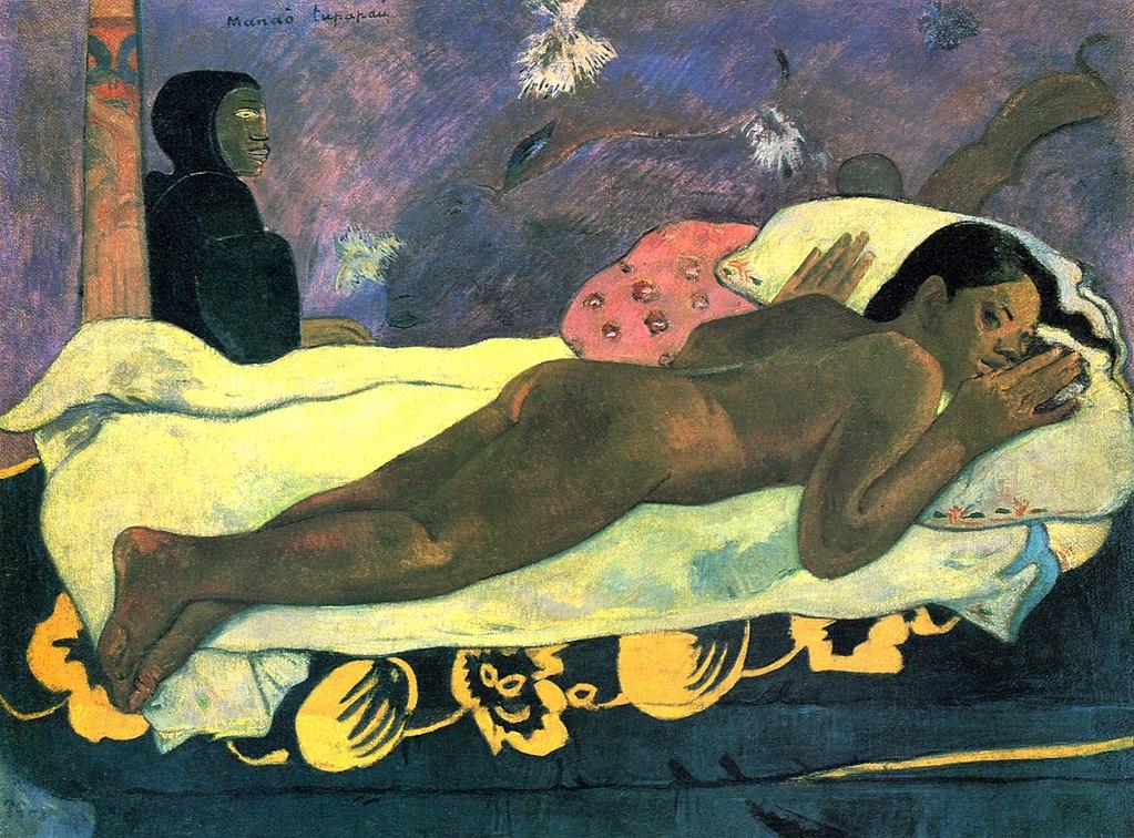 Mana'o Tupapau. Paul Gauguin, 1892, Mataiea, Tahiti (Albrith-Knox Art Gallery, Buffalo)