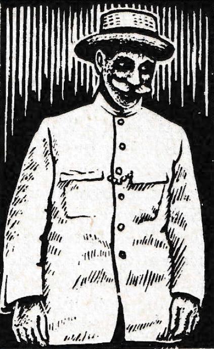 Le pasteur Octave Moreau (gravure tirée de l'ouvrage Tahitiens par Patrick O'Reilly – 1975)