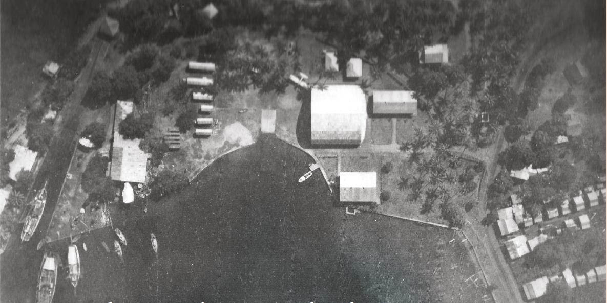 Vue générale de la base dont les infrastructures seront utilisées par le Grumann d'Air Tahiti. Crédit photo : Jean-Louis Saquet.