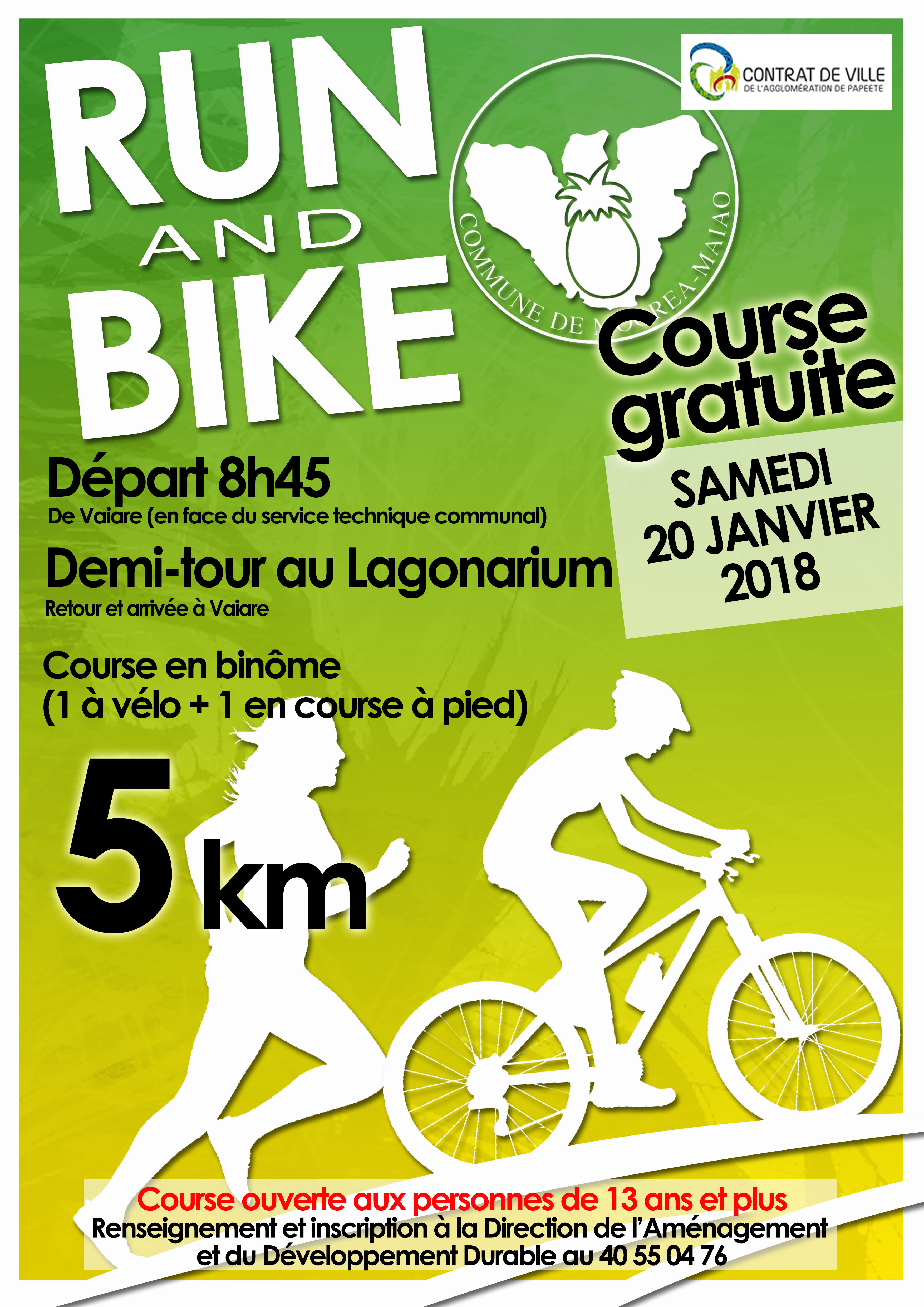 Un week-end Run & bike à Moorea pour sensibiliser sur les risques en deux roues