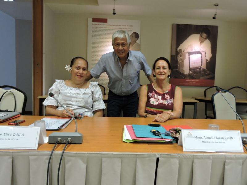 Elise Vanaa, Armelle Merceron et Jules Ienfa participent à la mission d'information.