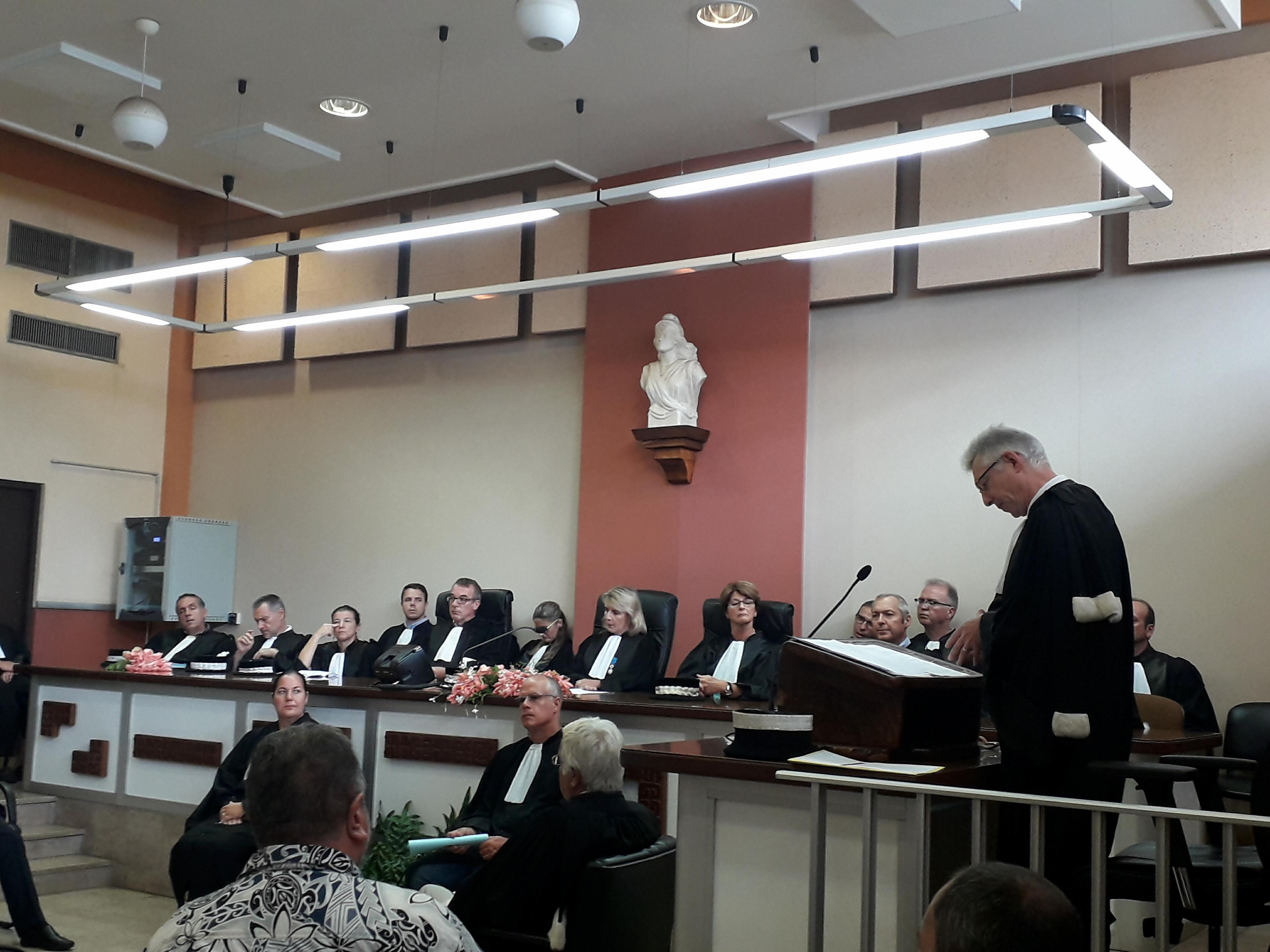 Le procureur de la République, Hervé Leroy, lors de son allocution en ce jour de rentrée solennelle.