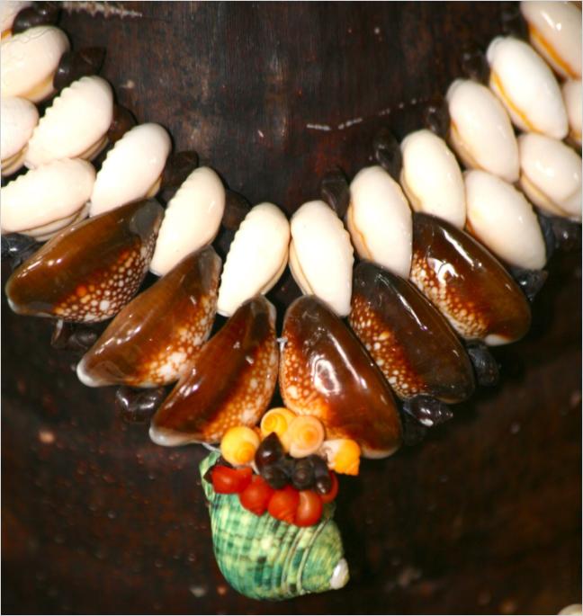 Détail d'un collier réalisé par Marie.