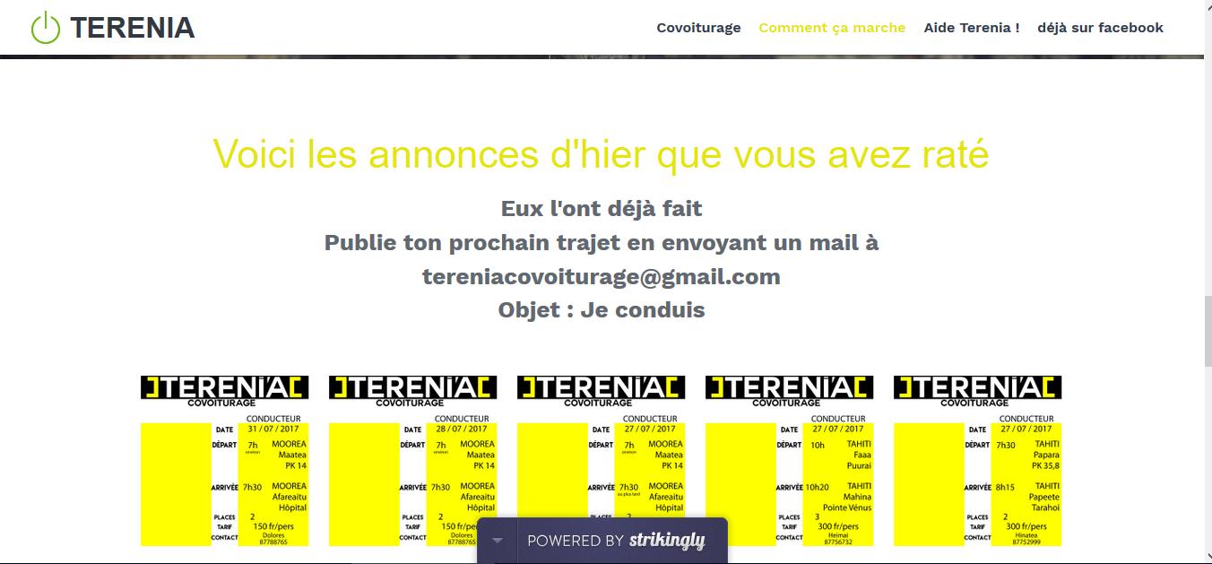 Terenia, première application mobile de covoiturage