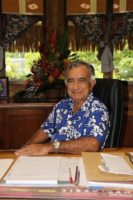 Oscar Temaru est à la tête de la commune depuis 1983.