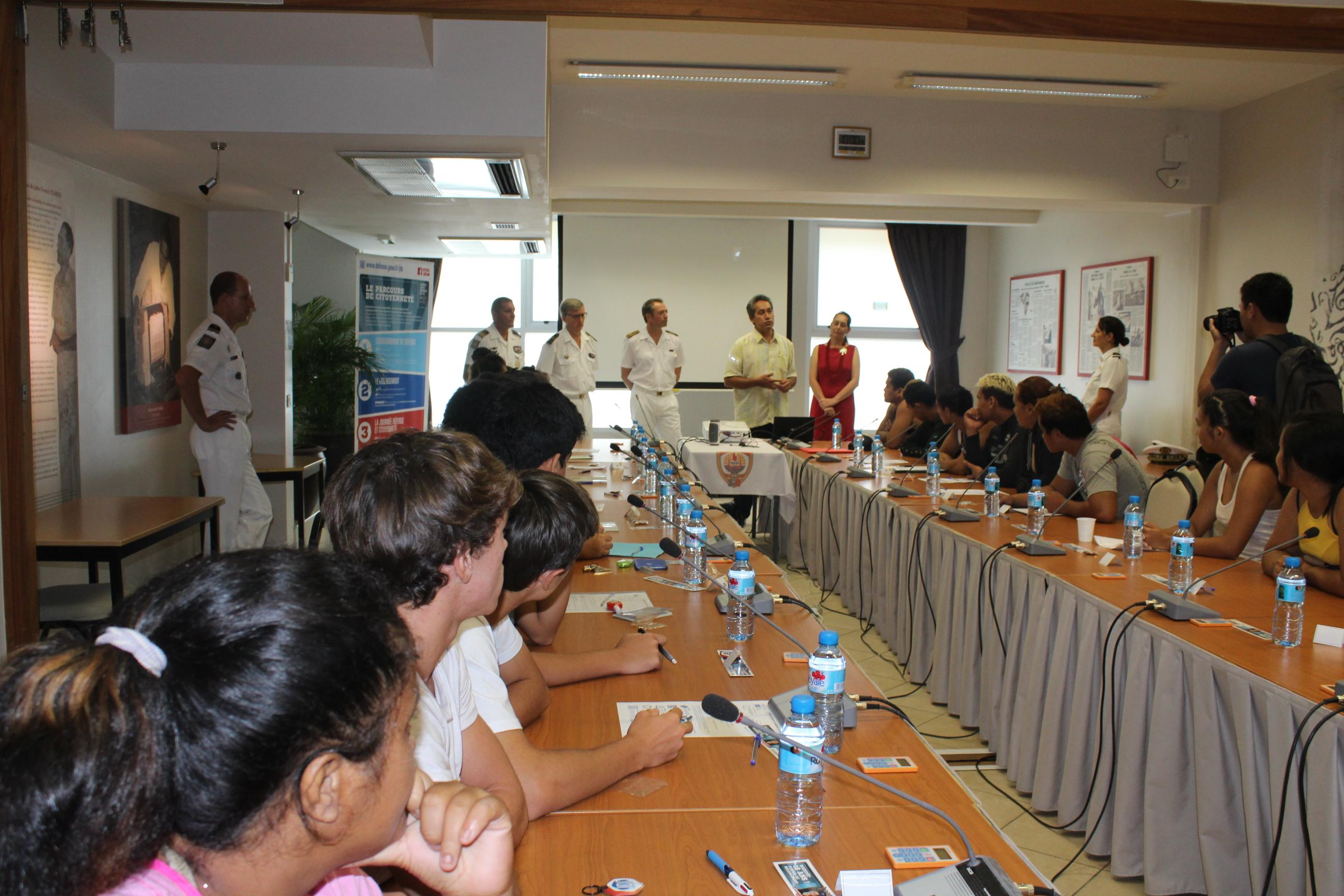 La Journée Défense et Citoyenneté était organisée à l'Assemblée de Polynésie.