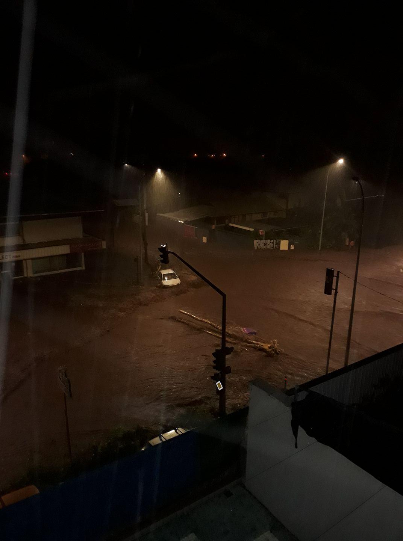 Les inondations de début 2017 ont touché les quartiers commerciaux de Papeete (photo partagée sur Facebook)