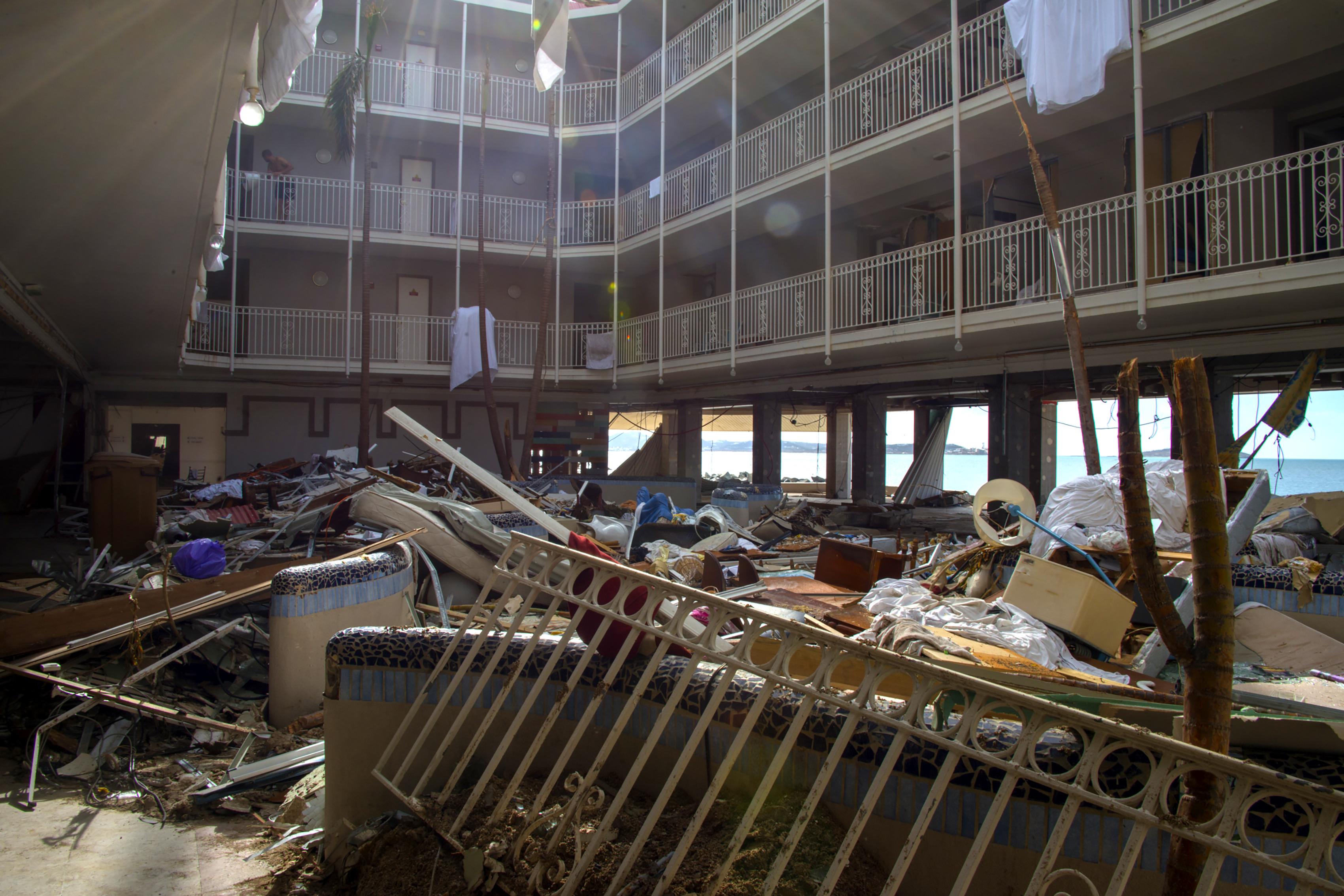 Photo d'illustration d'un hôtel ravagé par Irma.