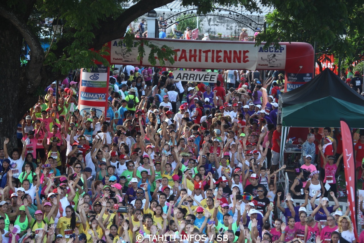 La Tahitienne : Les filles inscrivez-vous pour courir contre le cancer