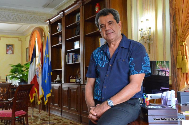 Le président Edouard Fritch (Photo : archive Tahiti Infos)