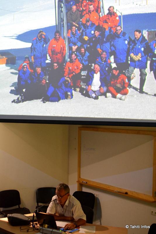 Eric Tragin a raconté son année en Antarctique, une belle aventure humaine avec des scientifiques et techniciens de l'extrême.