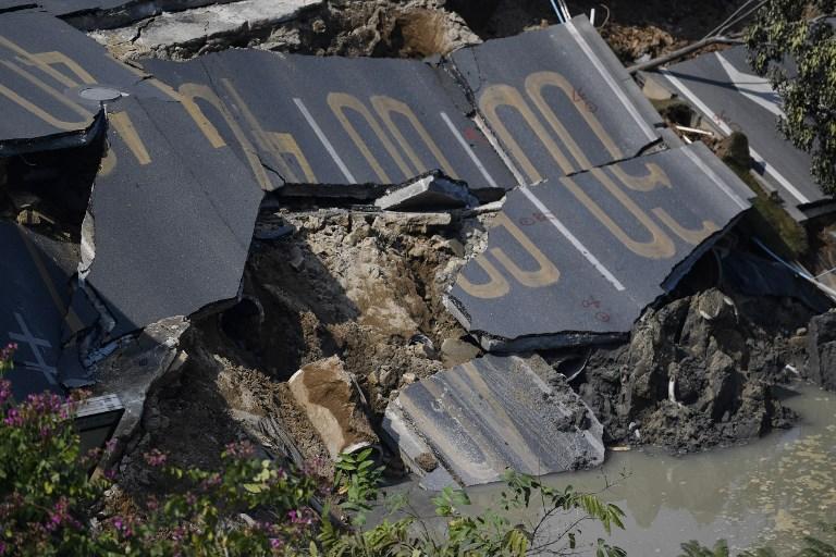 Une route s'effondre en Chine: 8 morts, 3 disparus