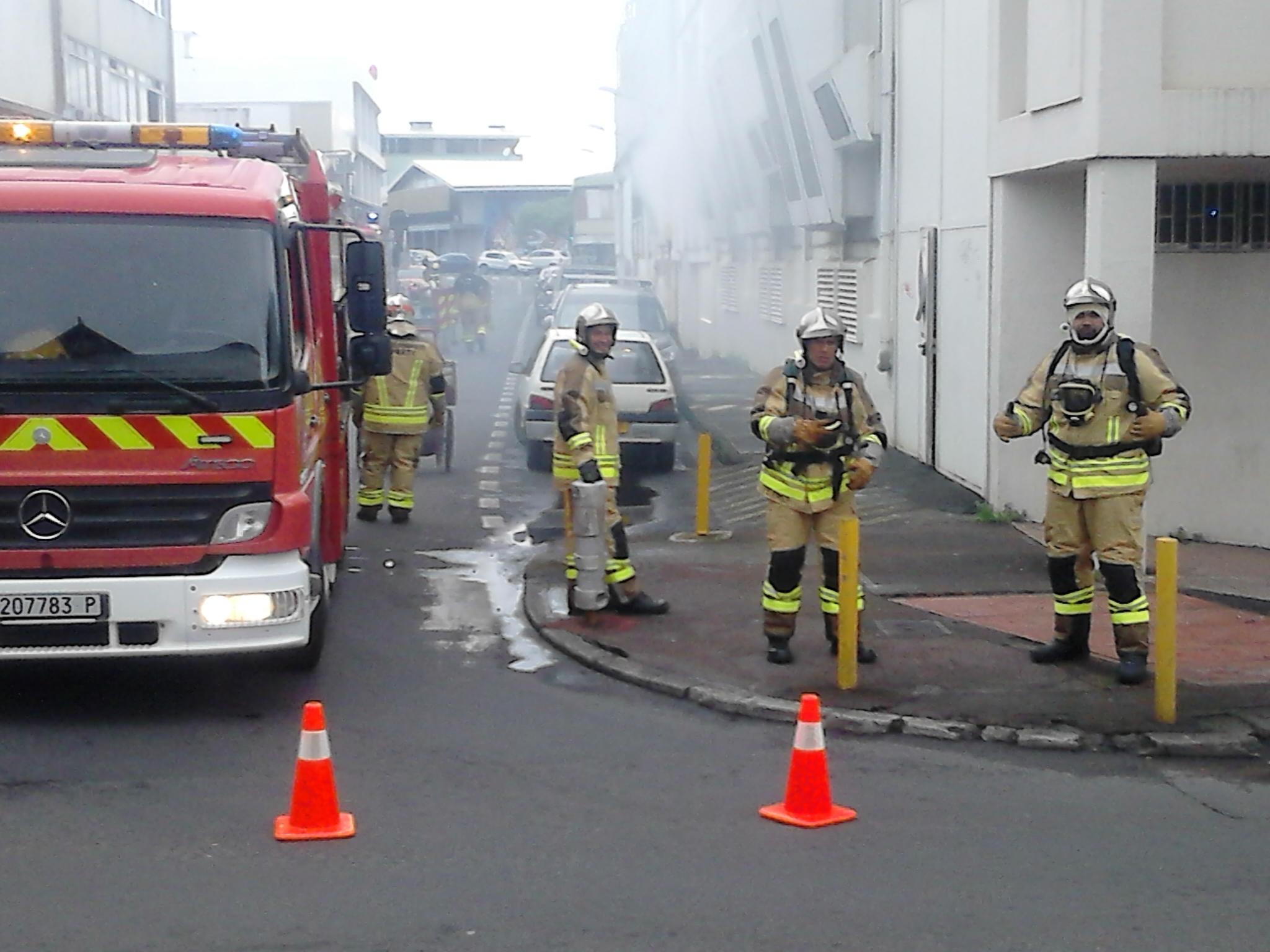 Exercice incendie à Papeete