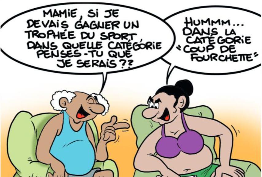 """"""" Les trophées du sport """" vu par Munoz"""