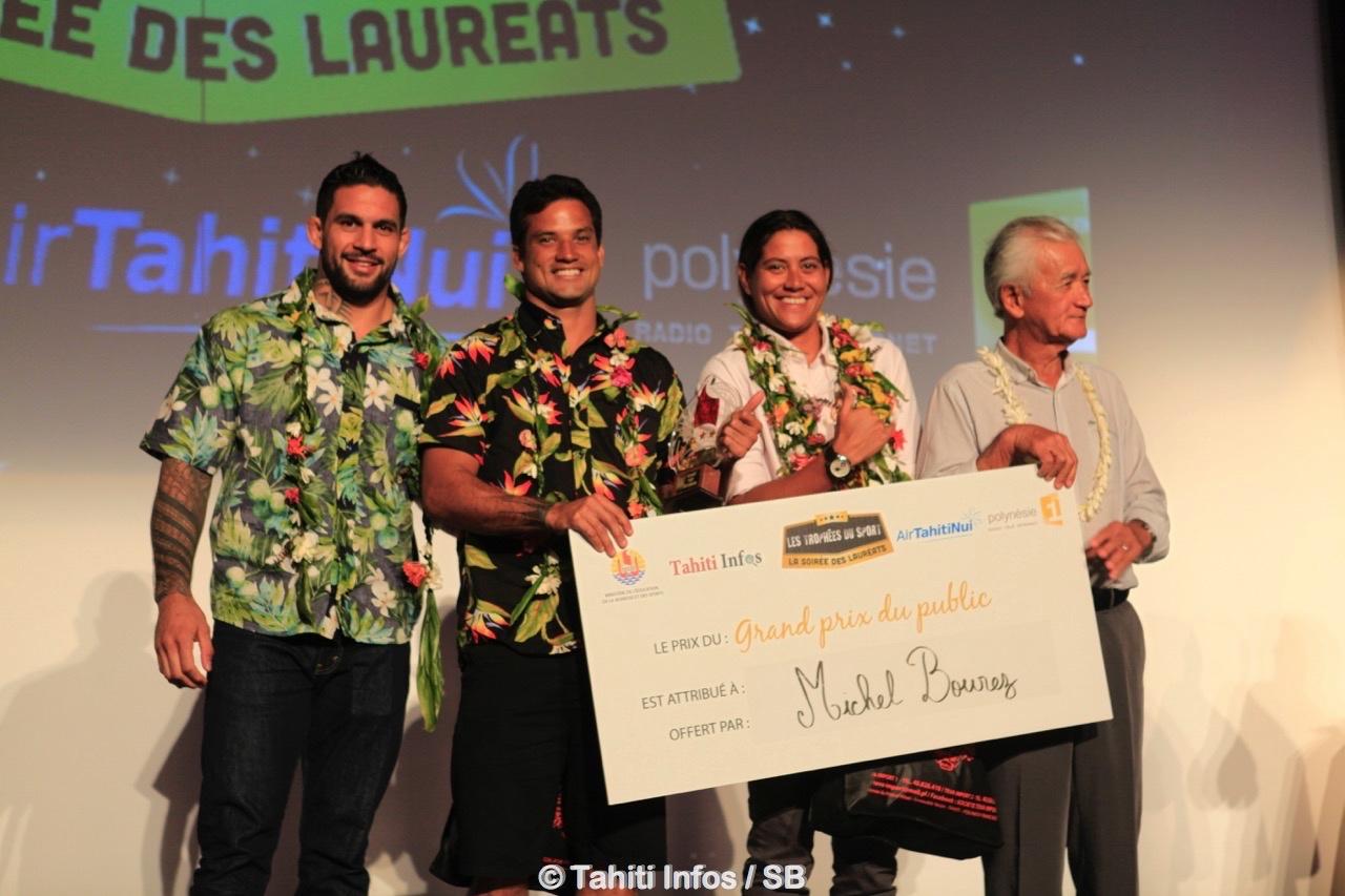 Le podium 2017 avec M. Albert Moux