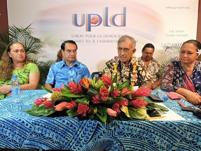 Oscar Temaru fait le bilan de l'UPLD au pouvoir