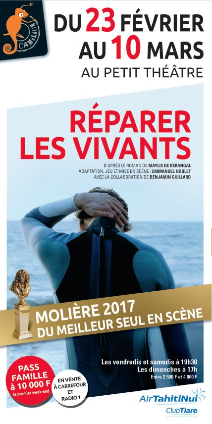 """Emmanuel Noblet seul sur scène pour """"Réparer les vivants"""""""