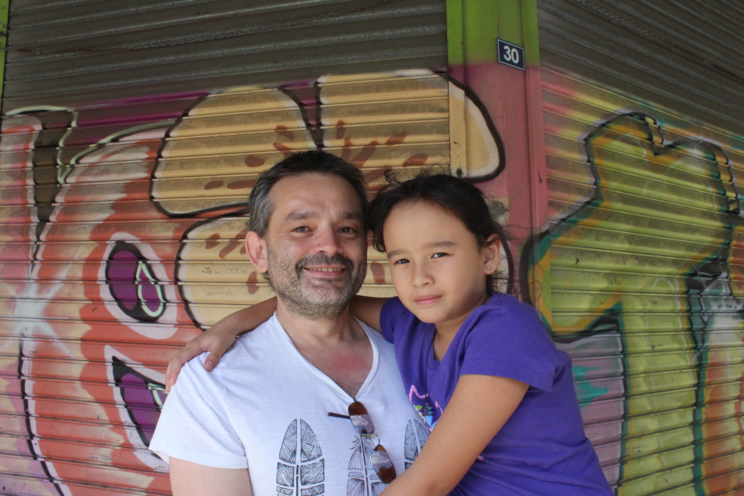 Sylvain et sa fille Loulou.