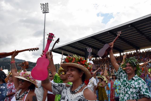 La Polynésie n'a pas réussi à battre le record du monde de Ukulele