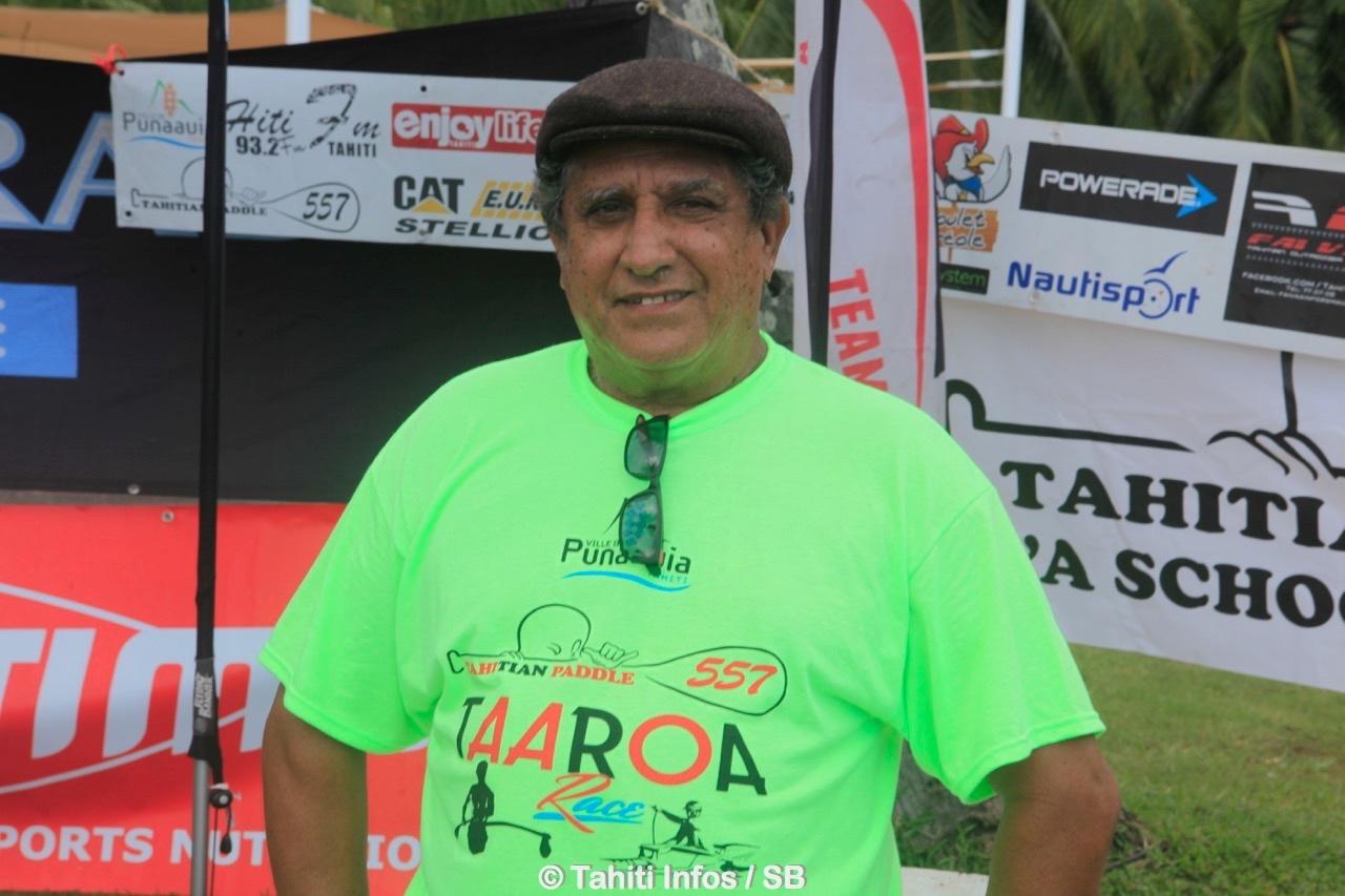 Kiki Dubois, président du club Tahitian Paddle