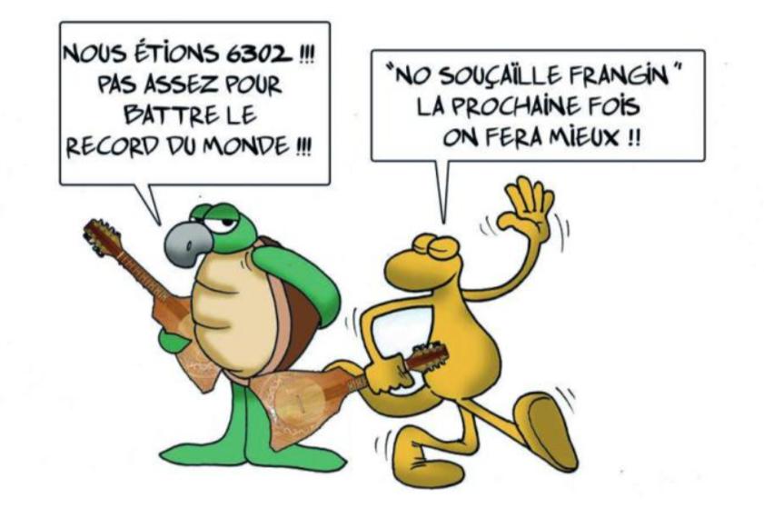 """"""" Pas de record du monde de 'Ukulele """" par Munoz"""